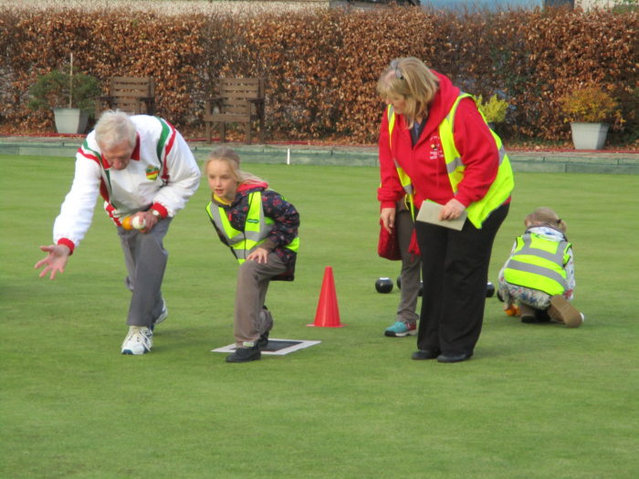 Taster session at West Moors Bowls Club