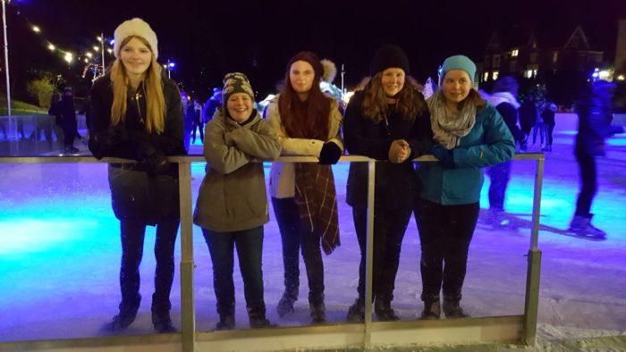 Rangers ice skating
